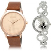 The Shopoholic Rose Gold Silver Combo Stylist Designer Combo Pack 2 Rose Gold And Silver Dial Analog Watch For Boys And Girls Watches For Boys For Stylish