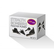"""5"""" Die Cast Metal Pull Back Stealth Bombers and Fighter Planes Set of 4"""