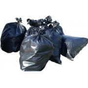 1100 x 1400 x 0,04 mm-es (110 x 140 cm-es) (280 l) polietilén zsák környezetbarát, újrahasznosított anyagból rolnizva