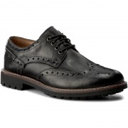 Обувки CLARKS - Montacute Wing 203510927 Black Leather