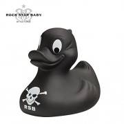 Rock Star Baby by Tico Torres - Rubber Duck Bath Toy | Pirate Black