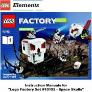 "INSTRUCTION MANUALS for Lego Factory Set #10192 ""SPACE SKULLS"""