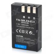 1200mAh EN-EL9 bateria para Nikon D3000 D5000 D40 D40X D60 - Negro