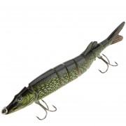 "LIXADA 8"" / 20cm 66g Lifelike Multi-jointed 8-segement Pike Muskie Fishing Lure Swimbait Crankbait Hard Bait Fish Treble Hook Tackle"
