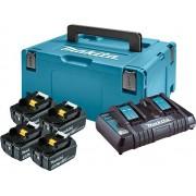 LXT set u koferu Makpac 3, BL1850Bx 4 kom, DC18RD PUNJAC