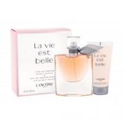 Lancôme La Vie Est Belle zestaw Uszkodzone pudełko Edp 50ml + 50ml Body lotion dla kobiet