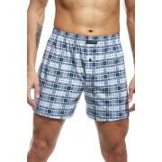Comfort 71 férfi káró mintás boxeralsó, kék XXL