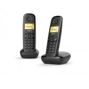 Siemens Gigaset A170 Duo Analog/DECT telephone Identificatore di chiamata Nero