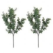 Shoppartners 2x Eucalyptus kunsttak grijs/groen 65 cm