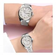 2 Piezas Reloj Doble Reloj A Prueba De Agua Blu-Ray-Blanco