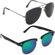 Royalmede Aviator, Clubmaster Sunglasses(Black, Blue)