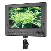 """7"""" IPS 3G-SDI HDMI monitor de campo de la camara top-w / peaking ST702-HSD negro"""