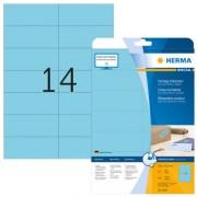 Herma Etiket Herma 5060 105x42 3mm Verwijderbaar Blauw 280stuks