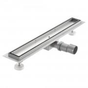 Стоманен лентов подов сифон за баня - може да се вгради във фаянса - (60x7см)