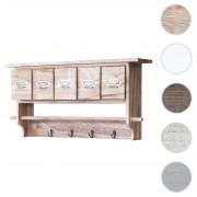 Küchenregal HWC-C49, Haushaltsregal Regal, Vintage mit 5 Schubladen 32x65x13cm ~ Variantenangebot