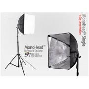 Lampa typu SOFTBOX 40x40 MonoHead na 1 żarówkę e27, statyw 230cm