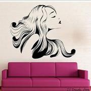 MRQXDP Hot Girl Wall Decals Hair Salon Beauty Spa Etiqueta de la pared Extraíble Art Mural para Gilrs Dormitorio Sala de estar Decoración de la pared 56x68cm murales wallpaper pared