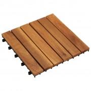 vidaXL Set de 10 plăci din acacia 30 x cm, model vertical