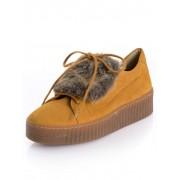 Alba Moda Sneaker, Damen, gelb, mit Kunstfelllasche