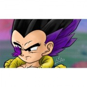 goten base form sticker poster|dragon ball z poster|anime poster|size:12x18 inch|multicolor