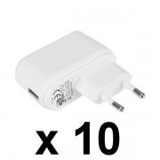 NEMKO USB töltő, 5V 1A, 10 db-os csomag, GDP06AV-0501000-EU