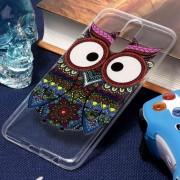 Para Huawei Mate 10 Lite Tribal Eagle Owl Pattern Oil Relieve Suave TPU Protector Nuevo Caso