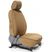 Pajero LWB GLS (2007 - Present) Escape Gear Seat Covers - 2 Electric Fronts with Airbags, 60/40 Rear Bench with Armrest, 1 Jump Seat, Square Headrests