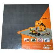 "Lego Compatible X Large Dark Bluish Gray 15.75"" X 15.75"" (50 X 50 Studs) Building Base Plates"