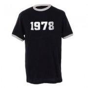 geschenkidee.ch Jahrgangs-Shirt für Erwachsene Dunkelblau/Weiss, Grösse L