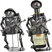 Поставка за вино [en.casa]®, Войник, 19x 16,5 x 23,5 cm