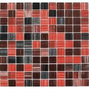 Maxwhite JSM-CH001 Mozaika skleněná červená hnědá černá 29,7x29,7cm sklo