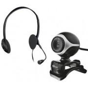 Trust Chatpack Exis : Webcam + Casti (Negru)