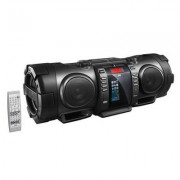 JVC RV-NB100E, Boomblaster, schwarz mit iPhone5-Dock, CD-Player