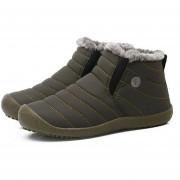 Unisex botas de nieve de colores sólidos zapatos calentamiento Slip-on Botines de par de zapatos