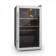 Beersafe XXL kylskåp 80 liter klass A+ glasdörr rostfritt stål