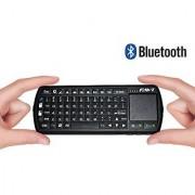FAVI FE02 Bluetooth Wireless USB Mini Keyboard w Mouse Touchpad Laser Pointer Backlit Keys - US Version (Includes Warranty) - Black (FE02BT-BL)