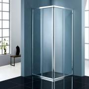 Douchecabine Traya Vierkant Greeploos Schuifdeur 90x90x200cm Helder Glas Chroom Profiel 5mm Veiligheidsglas Easy Clean