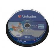BD-R SL Datalife 25GB 6x Wide Inkjet Printable Spindle 10