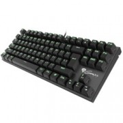 Клавиатура Natec Genesis Thor 300 TKL, Гейминг, подсветка(зелена), черна, USB
