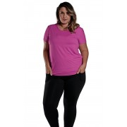 Kit Camiseta Plus Size New Trip + Calça Bailarina + Top Tule
