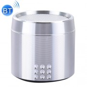 Portable True Wireless Stereo Mini Bluetooth Speaker with LED Indicator & Sling for iPhone Samsung HTC Sony and other Smartphones (Silver)