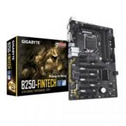 Дънна платка Gigabyte GA B250 FinTech, B250, LGA1151, DDR4, 1x PCI-E x16 3.0(DVI&VGA), 11x PCI-E x1 3.0, 6x SATA 6Gb/s, 4x USB 3.1 Gen1, ATX, предназначена за добив на криптовалути