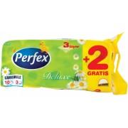 Hartie igienica 3 straturi color De Luxe musetel 10 role/set Perfex