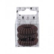 2K Hair Tie 3 ks spirálovité gumičky do vlasů pro ženy Brown
