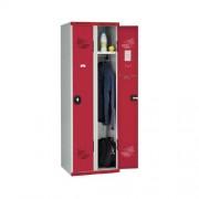 Garderobekast op sokkel - Seamline � - Lichte industrie - Cilinderslot - 2 kolommen
