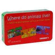 Puzzle bebelusi MomKi Unde locuiesc animalele