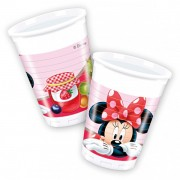 Set pahare plastic Minnie Mouse