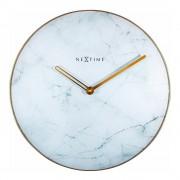 NeXtime Marble Väggklocka Marmor 40 cm Vit