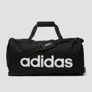 Adidas linear logo duffel sporttas medium zwart ONESIZE