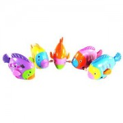 ELECTROPRIME Plastic Mini Rainbow Swing Fish Wind Up Toy for Kids Play Children Present